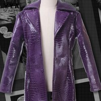 Jared Leto Joker Costume Suicide Squad Halloween Cosplay Costume Coat Free Shipping