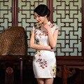 2016 New Retro Print Cheongsams Chinese style Women Qipao Evening Ball Gown short Cheonsam  ZA0960