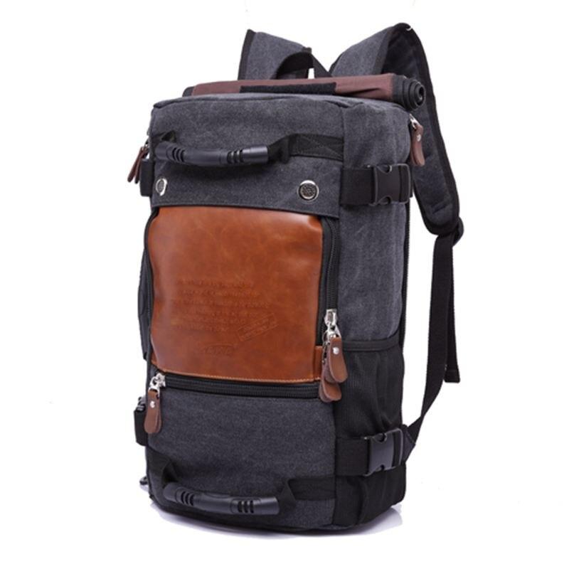 Sac à dos imperméable de grande capacité de voyage de toile pour le sac à bandoulière masculin de bagage
