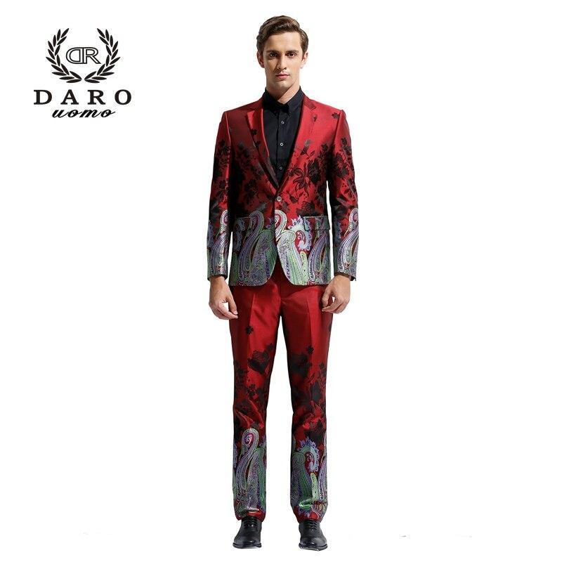 DARO 2019 costume de Blazer pour hommes Slim décontracté pantalon mariages fêtes costume de Style chinois DR8828 - 3