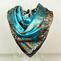 90*90cm Fashion Purple Grey Polyester Silk Scarf Printed For Women,New Style Women Big Square Silk Scarf/Shawl