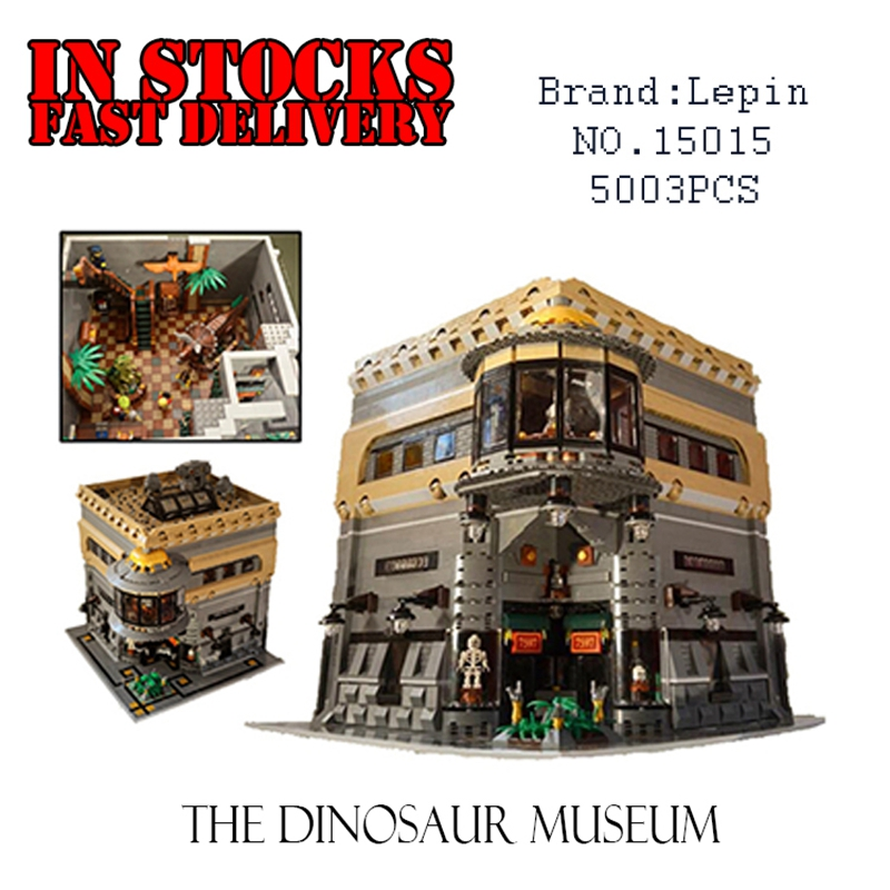 LEPIN 15015 5003pcs City The dinosaur museum MOC Model Building Blocks Kits Brick toys  for children movado museum classic 0606503