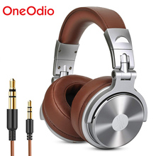Oneodio ستوديو DJ سماعات مع ميكروفون ستيريو العميق باس على الأذن سماعة مع 3.5/6.3 مللي متر جاك لرصد تسجيل