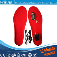 BEST GIFT NEW ARRIVAL USB Electric Powered Heated Insoles For Shoes Boots Keeping Feet Warm Free
