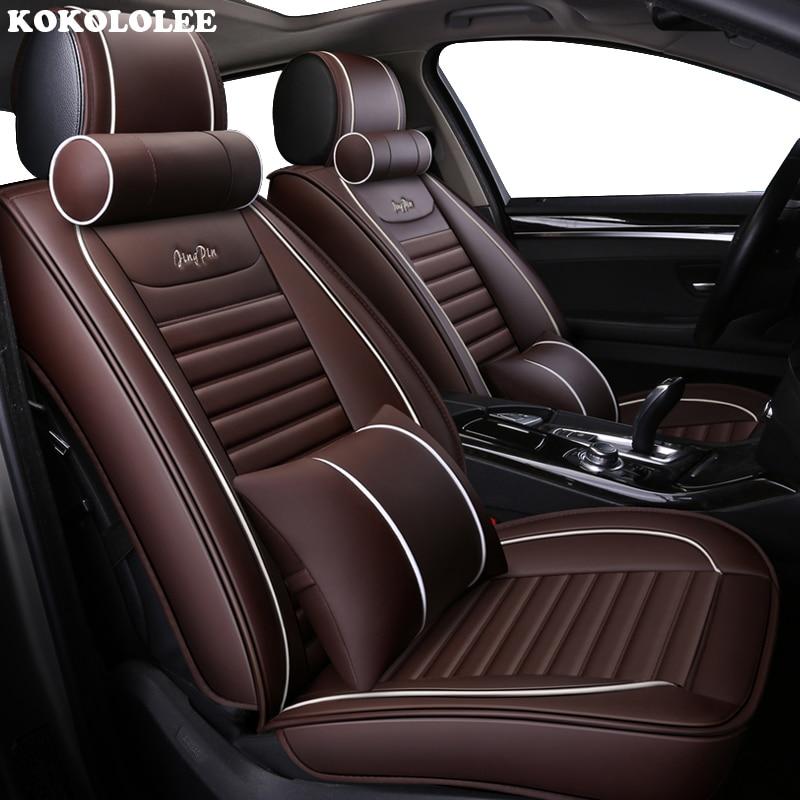 KOKOLOLEE auto car seat cover pour bmw e30 e34 e36 e39 e46 e60 e90 f10 f15 f20 f30 g30 x1 e84 x5 e53 e70 e87 x3 e83 voiture-style