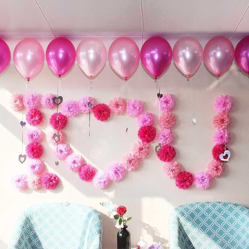 """4 """"10 cm Pompon Mô Giấy POM Hoa Quả Bóng cho Trang Trí Phòng Cưới Dự Tiệc Cung Cấp TỰ LÀM Trắng Treo hoa giấy"""