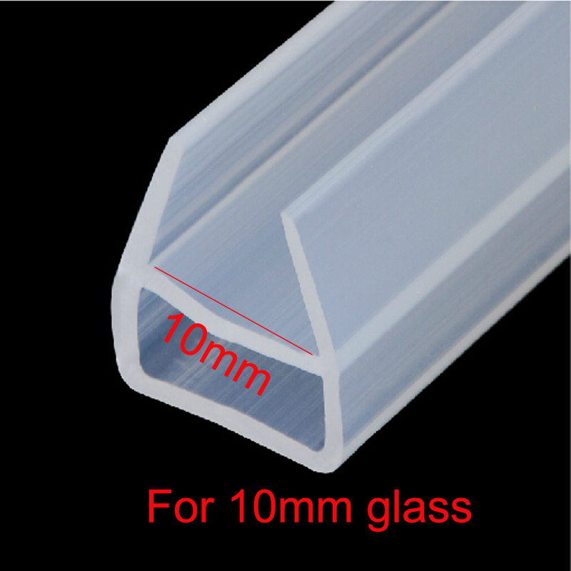 1 meter u shape shower door silicone rubber seal strip weatherstrip for 10mm glass