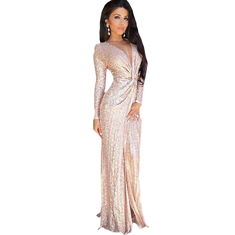 Online Get Cheap Long Sleeve Sequin Dress Gold -Aliexpress.com ...