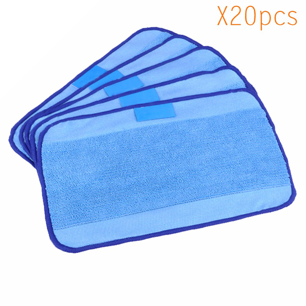 20pcs/Lot High quality Microfiber wet Mopping Cloths for iRobot Braava 321 380 320 380t mint 5200C 5200 4200 4205 Robot blue wet microfiber mopping cloths for irobot braava 380 380t 320 mint 4200 4205 5200 5200c floor mopping robot