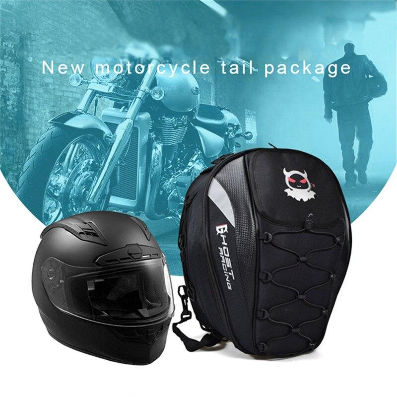 Nouveau sac de queue de moto imperméable Oxford tissu moto queue sac siège sac cavalier sac à dos moto siège sac livraison directe m10