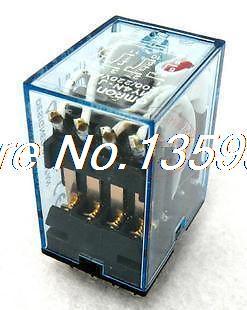 цена на 10PCS NEW coil power relay 14pin 4NO 4NC HH54P-L LED LAMP 5A 220-240VAC 4PDT