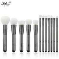 Anmor New 12 Pcs Makeup Brush Set High Quality Makeup Brushes Beautiful Powder Blush Eyeshadow Make