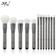Anmor New 12 pcs Makeup Brush Set High Quality Makeup Brushes Beautiful Powder Blush Eyeshadow Make Up Brushes