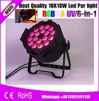 4 uds/lote mejor 18X18W luz Par LED 18 Uds 18W 6 en 1 luz Par de escenario interior a todo Color + 1 Uds mando a distancia