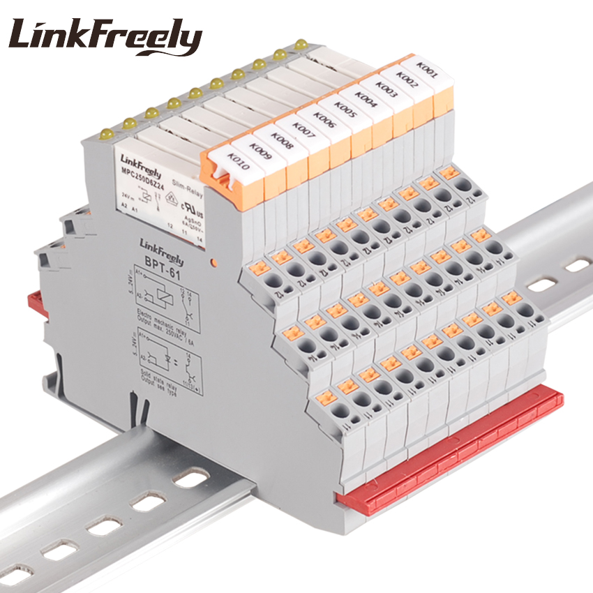 MPC250D6Z24BPT 10pcs Plug in Spring Connected Industrial Relay 24V Input 250VAC 30VDC 6A Output Ultra thin