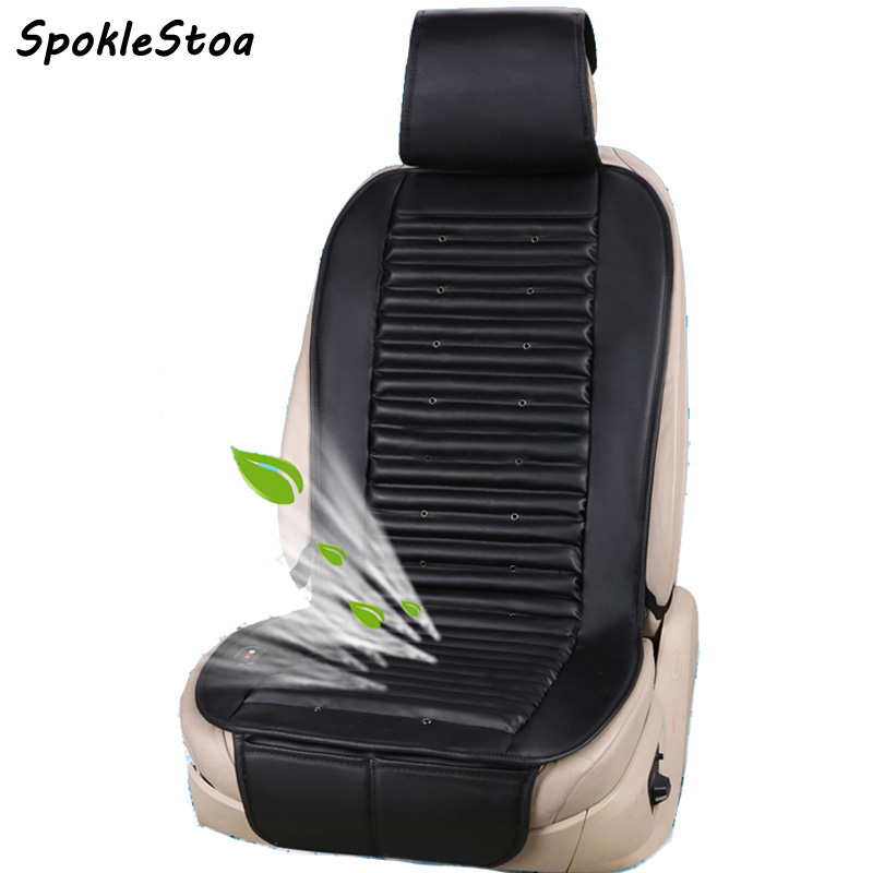 12v Pu Leather Cooling Fan Car Seat Covers Universal