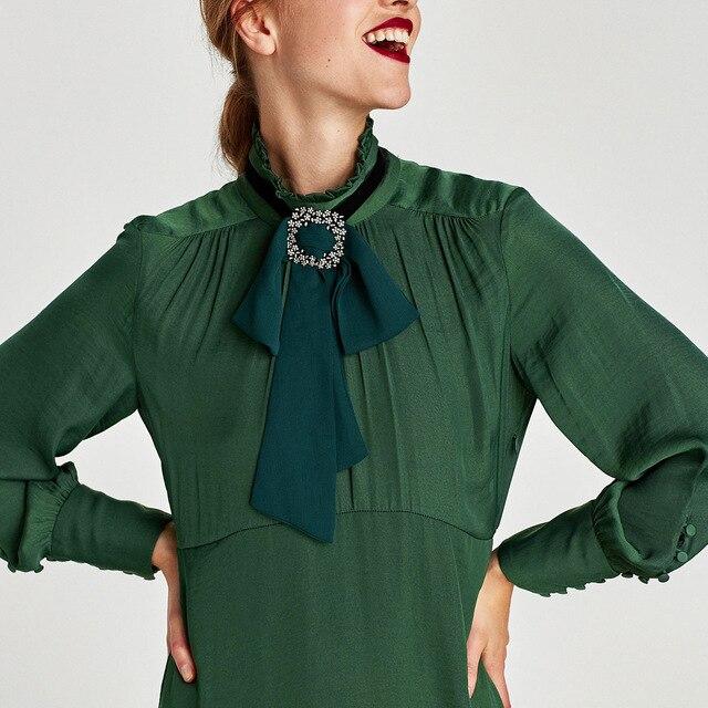 meidi European American women new accessories chiffon bow decorative  necklace neck chain shirt outside women collar gifts 965551db36f0