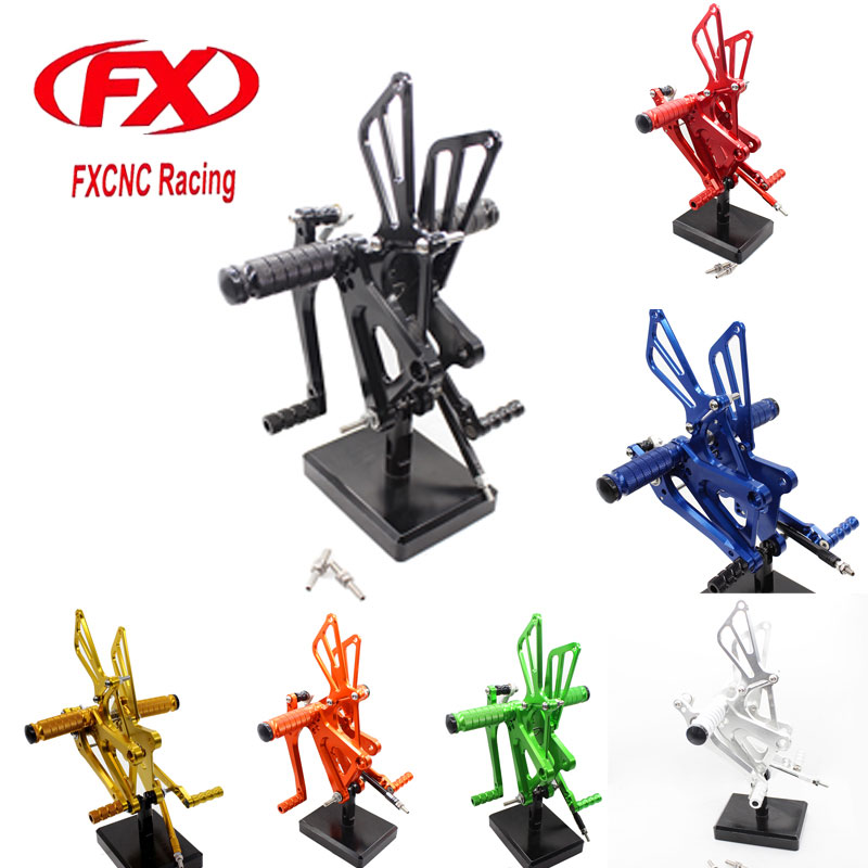 For HONDA CBR250R 2010 - 2011 2012 FX CNC Aluminum Adjustable Motorcycle Foot Rests Rearsets Rear Set Foot Pegs Pedal Footrest pouring for profit