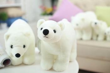 7.8 Inch Plush Polar Bear Sweet Cute Lovely Stuffed Baby Kids Toys for Girls Birthday Christmas Gift Cute Girl 20cm Baby Doll 10