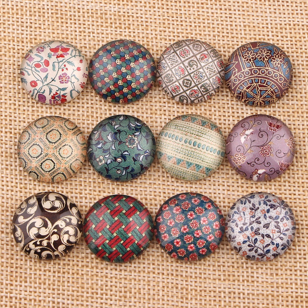 Onwear mixed handmade round domed photo glass cabochons 10mm 12mm 14mm 18mm 20mm diy hair jewelry components