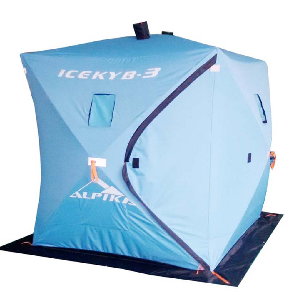 Winter ice fishing tents eskimos alpika tent quickly for Ice fishing tents