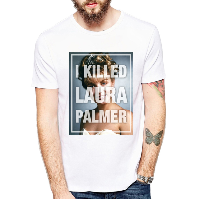 5a91b4c7 Retro Laura Palmer Fire Walk With Me Printed T-Shirts Hipster tee Tops 2019  Newest Twin Peaks Men T shirt