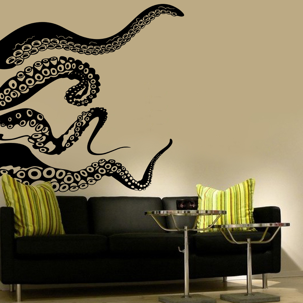 Octopus Tentacles Dramatic Ocean Animal Vinyl Wall Art Decal For Schools,  Homes, Bedrooms,Bathroom Decoration 81cmx94cm In Wall Stickers From Home U0026  Garden ...