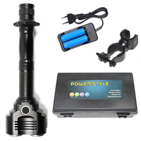 8000 Lumen High Power LED Flashlight 2x18650 Rechargeable Battery 5 Modes Torch CREE 2T6 LED Bulb Lantern+Battery+Charger+Clip