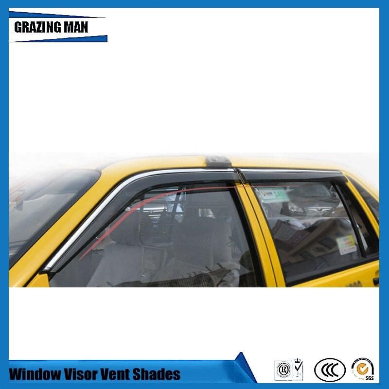 Sun visor Car accessories Window Visor Vent Shades Sun Rain Deflector Guard 4PCS/SET for santanaSun visor Car accessories Window Visor Vent Shades Sun Rain Deflector Guard 4PCS/SET for santana