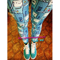 FREE SHIPPING Unif adventuretime cartoon  game machine slim hip legging/Adventure time