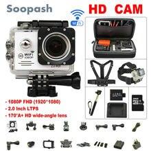 Soopash Action camera deportiva Ultra HD WiFi 1080 P 2.0 LCD 170D przejść wodoodporna pro kamera mini sport action cam