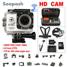 Soopash Action camera deportiva Ultra HD WiFi 1080P 2.0 LCD 170D go waterproof pro camera mini sport action cam