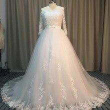 Fsuzwel Romantic Boat Neck Ball Gown Wedding Dress 2019