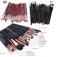 20pcs Professional Black Coffee Dark Red Fine Pincel Maquiagem Brushes for Makeup Cosmetic Make Up Brushes Set Kit High Quality