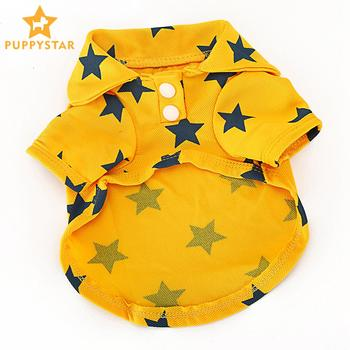 Pet Polo Tshirt Dog Clothes For Small Dogs Solid Cotton Summer Clothing For Dogs Puppy Vest Pomeranian Shirt Cat Supplies XLB001