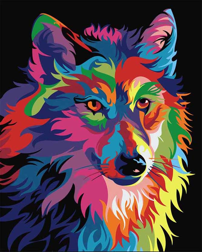 2018 Direct Selling Painting Rhinestones wolf mosaic 5d square diy embroidery rhinestone painting animal diamond Embroidery