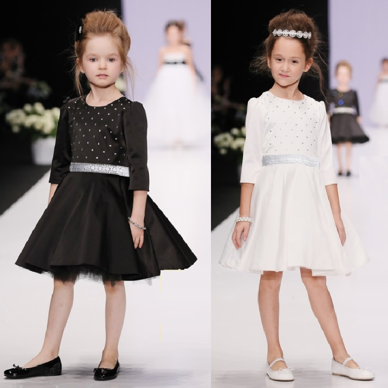 Hooyi Autumn Dress For Young Girls Formal Party Dresses Fashion Children One-Piece Full Dress Night Ball Gown Top Quality