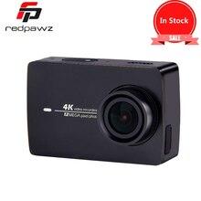 """En Stock Negro!! xiaomi yi 4 k cámara de acción hd 2 ii 2.19 """"pantalla retina imx377 12mp 155 grados eis ldc deporte cámara"""