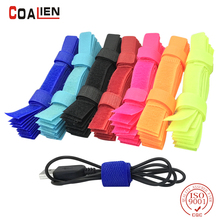 COALIEN 10pcs 50pcs Colored Cable Winder Wire Organizer Cable Earphone Holder Cord Wire Management Cable Protector