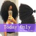Mongolian Afro Kinky Curly Virgem Cabelo 3 pcs afro crespo cabelo humano Cabelo Crespo Crespo Mongol crespos tecer cabelo humano extensões