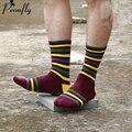 Мужчина счастливый хлопчатобумажные носки полосы зимние теплые носки meia носки мужские Красочные Серии бренда мужские Носки 5 Париж/много