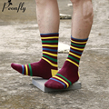 male happy cotton socks stripes winter warm socks meia men's socks Colorful Series brand Socks men 5 Paris/lot