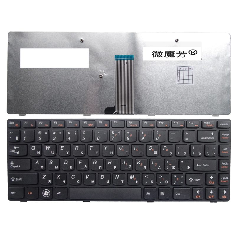 RU For LENOVO G405G G480 G485 Z380 Z480 Z485 G410 G490 G400 G405 G410 Laptop Keyboard Russian New Black jigu new battery l11l6y01 l11s6y01 for lenovo y480p y580nt g485a g410 y480a y480 y580 g480 g485g z380 y480m