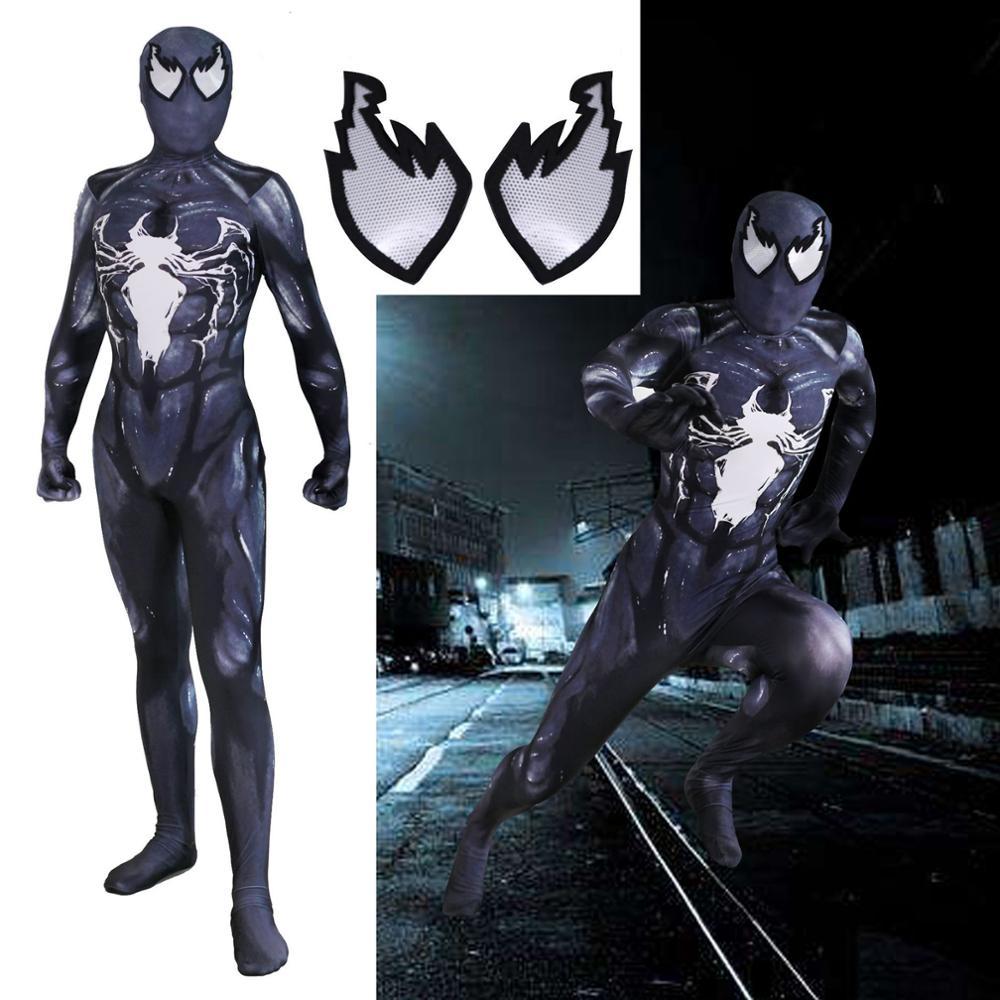 Venom Spiderman Kostüme Custom 3D Gedruckt Symbiote Spinne Mann Lycra Cosplay Kostüm Zentai Spidey Halloween Anzug für Erwachsene-in Film- & TV-Kostüme aus Neuheiten und Spezialanwendung bei AliExpress - 11.11_Doppel-11Tag der Singles 1