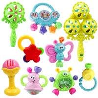 7 unids/lote Niño Juguetes Educativos Para Bebés de 1 Años Zabawki Dla Niemowlat Juguete de la Música Del Bebé Campanilla Sonajeros Para Niños Pequeños Bebés