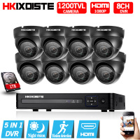 8CH CCTV System 1080p HDMI AHD 8CH CCTV DVR 8PCS 1 0 MP IR Security