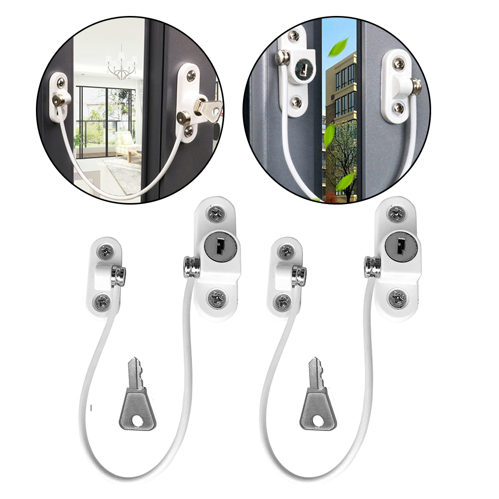 2 Pcs/lot Window Lock Children Protection Window Restrictor Stainless Steel Child Safety Window Stopper Anti-theft Locks Limiter 20 pcs stainless steel exterior side window