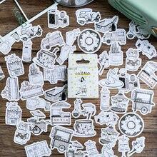 46 adet/kutu sevimli kız etiket Kawaii günlüğü el yapımı yapışkanlı kağıt pul japonya Sticker Scrapbooking kırtasiye kırtasiye