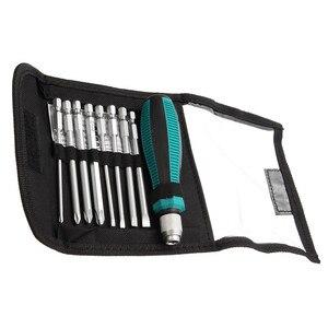 9pcs/set Precision Screwdriver Bit Set NO.8108 9 IN 1 Screwdrivers Kit Bag 8 Insert Bits+1pcs Rubber Handle Hand Tool Set