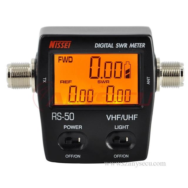 Бесплатная доставка Nissei ЖК стоячей волны лист измеритель мощности rs50 rs-50 стоячей волны Таблица портативная рация